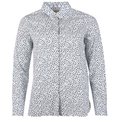 New 2018 Barbour Hunstanton Relaxed Fit Shirt - Off White