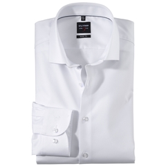 Olymp Level Five Body Fit Extra Long Sleeve Shirt  - Diamond Twill White