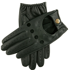 Dents Men's Leather Driving Gloves - Delta - Racing Green