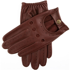 Dents Men's Leather Driving Gloves - Delta - English Tan