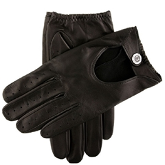 Dents Men's Two Colour Leather Driving Gloves - Black