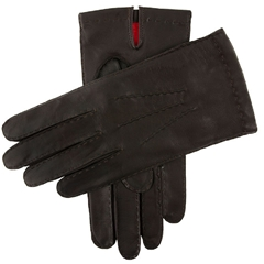 Dents Men's Silk Lined Leather Gloves - Brown