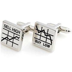 Buy Low Sell High Cufflinks - Buy Low Sell High Design Cuff Links