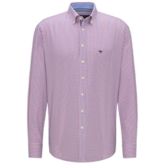 Fynch Hatton Shirt - Navy Red Small Check