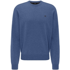 Fynch Hatton Crew Neck Lambswool Sweater - Wave - XL ONLY