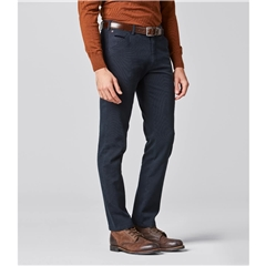 New Autumn 2021 Meyer Cotton Trousers - Navy -  Chicago 5580 19 - UK Inch Sizing