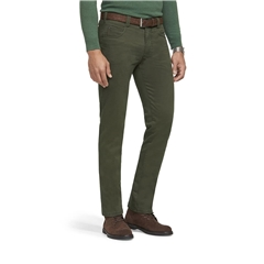New Autumn 2021 Meyer Cotton Trousers - Green - Diego 5552 26 - Continental Sizing