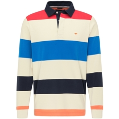 Fynch Hatton  Rugby Style Sweater - Seashell-Flame-Navy
