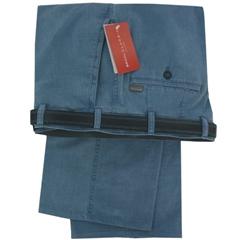 Bruhl Trousers Spring Weight Cotton - Blue - Style Montana 3276-630