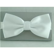 Ready Tied Bow Tie - White