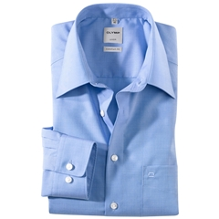 Olymp End On End Shirt - Comfort Fit -Sky Blue - 0255-64-15