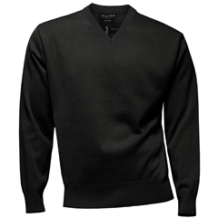 Franco Ponti Classic Vee Neck Sweater - Medium Weight - Charcoal