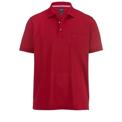 Olymp Pique Polo Shirt - Dark Red