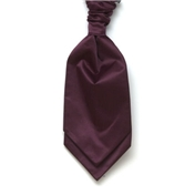Men's Satin Wedding Cravat- Wine