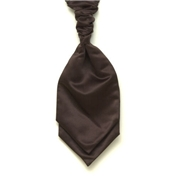 Men's Satin Wedding Cravat- Brown