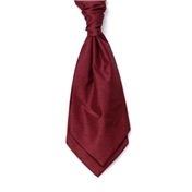 Men's Shantung Wedding Cravat- Wine