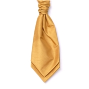 Men's Shantung Wedding Cravat- Gold