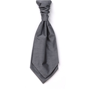 Men's Shantung Wedding Cravat- Grey