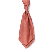 Men's Shantung Wedding Cravat- Salmon
