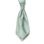 Men's Shantung Wedding Cravat- Sage