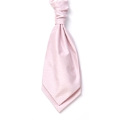 Men's Shantung Wedding Cravat- Pink