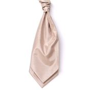 Men's Shantung Wedding Cravat- Champagne