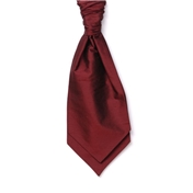 Men's Silk Shantung Wedding Cravat- Wine