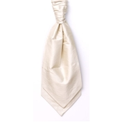 Men's Silk Shantung Wedding Cravat- Ecru