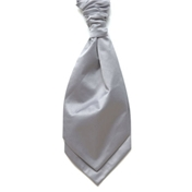 Boy's Satin Wedding Cravat- Grey