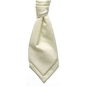 Boy's Satin Wedding Cravat- Ecru