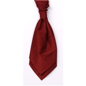 Boy's Shantung Wedding Cravat- Red