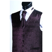 Men's 'Crinkle Finish' Wedding Waistcoat- Purple