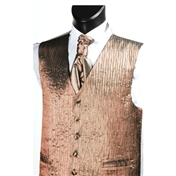 Men's 'Crinkle Finish' Wedding Waistcoat- Beige