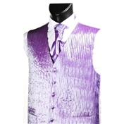 Men's 'Crinkle Finish' Wedding Waistcoat- Lilac