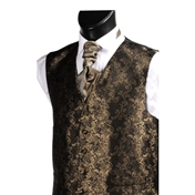 Men's Wedding Waistcoat Patterned- Brown