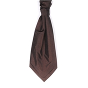 Men's Wedding Cravat- Chocolate