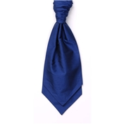 Men's Silk Shantung Wedding Cravat- French Navy