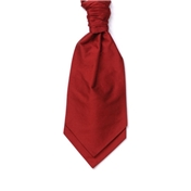 Men's Silk Shantung Wedding Cravat- Red