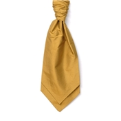 Men's Silk Shantung Wedding Cravat- Gold