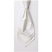 Men's Silk Shantung Wedding Cravat- White