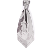 Boy's Wedding Cravat- Silver