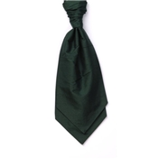 Boy's Silk Shantung Wedding Cravat- Bottle Green