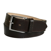 Brown Leather Jeans 'Montorfano' Belt by Robert Charles