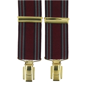 Luxury Clip-On Brace - Burgundy with Grey Stripe