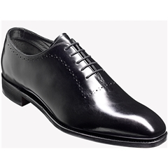 Barker Shoes Style: Alderney - Black Calf/Weave