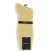 Men's Cashmere Socks - Yellow
