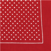 Bandana or Large Handkerchief - Red Polka Dots