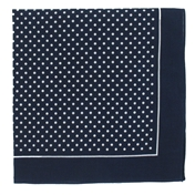 Bandana or Large Handkerchief - Navy Polka Dots