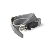 Grey Elasticated Webbing Belt - One Size Fits All