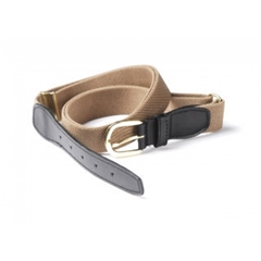 Beige Elasticated Webbing Belt- One Size Fits All